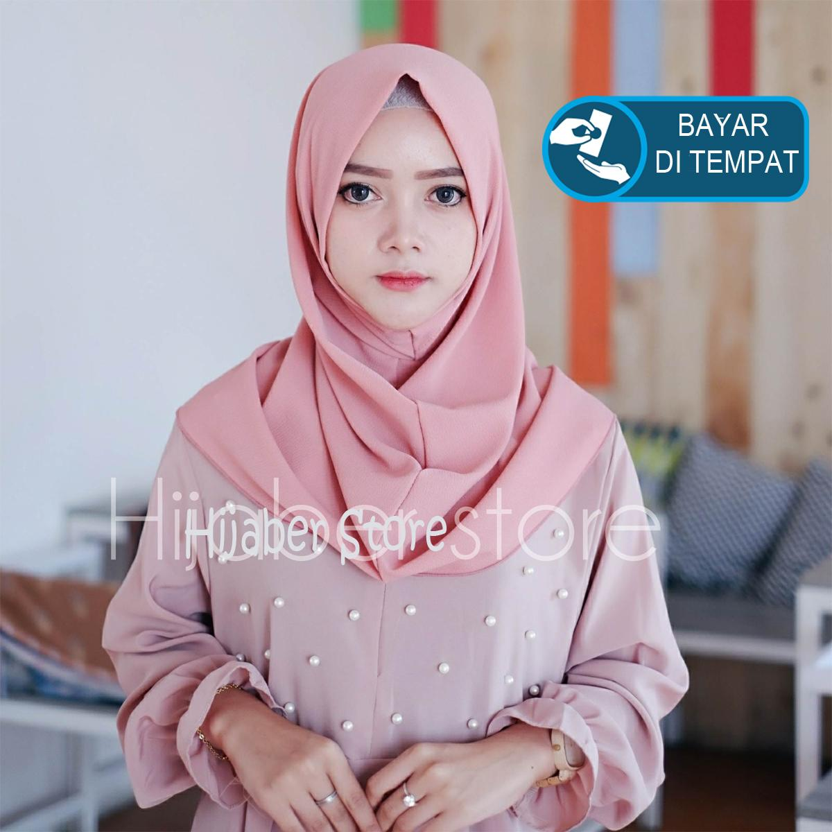 Jual Hijab Jilbab Modern Terbaik Instan Simple Pet Promo Shalwa Kerudung Salwa Bahan Bubble Premium