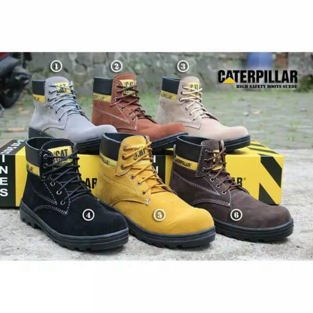 BEST SELLER !!! Sepatu Pria Caterpillar Safety Boots ORIGINAL High Quality