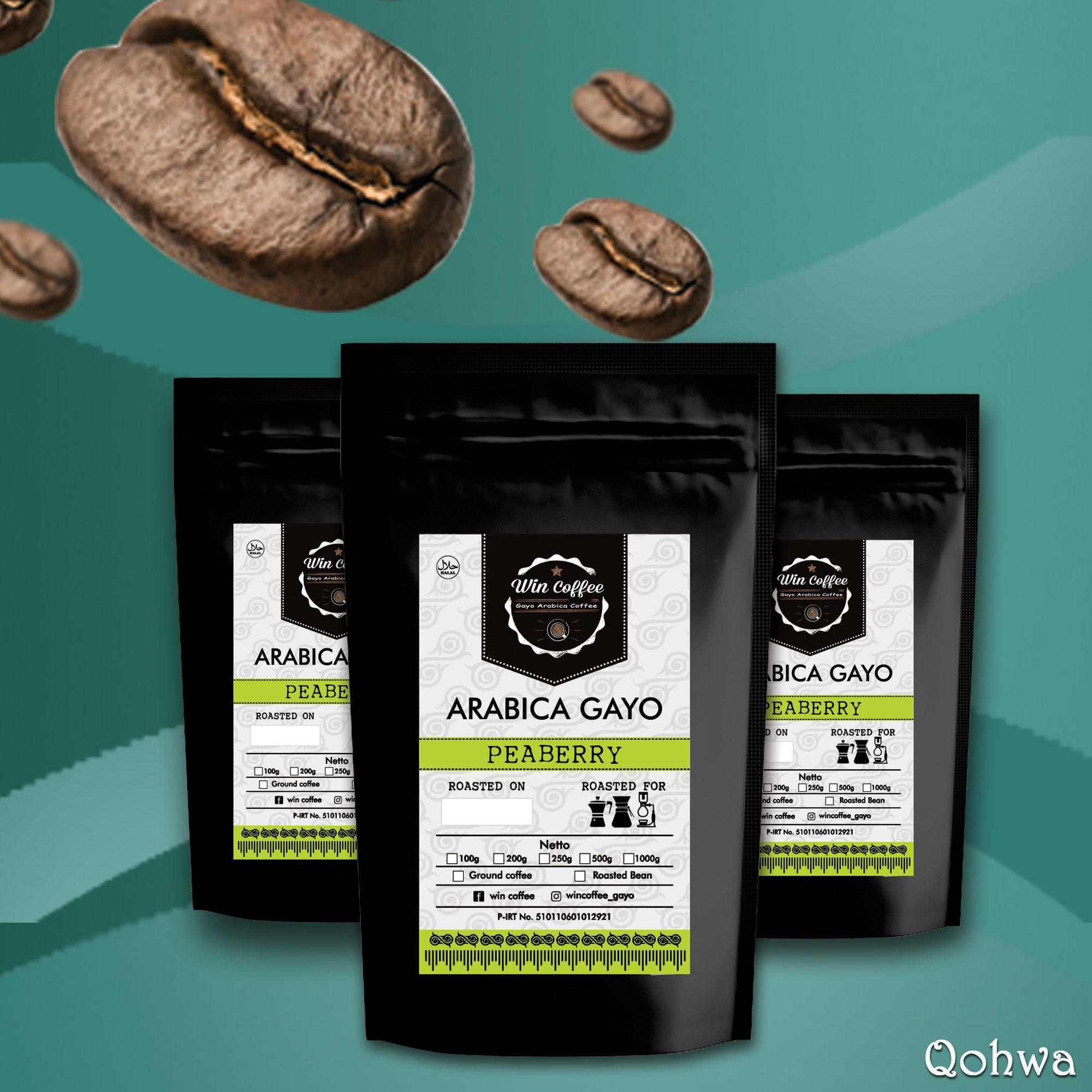 Jual Kopi Gayo Original Termurah Arabika Natural Process 500 Gram Biji Dan Bubuk Peaberry Qohwa Coffee 100gr
