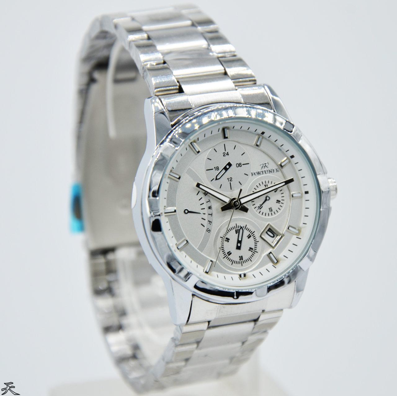 Jam Tangan Wanita Fortuner FR255 Original Rantai Silver Mewah Murah