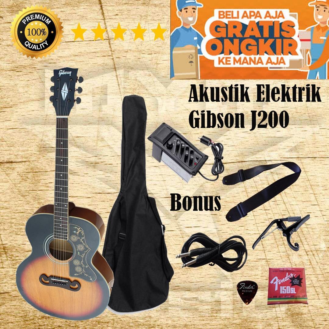 Gitar Akustik Elektrik Gibson J200 Equalizer 7545r