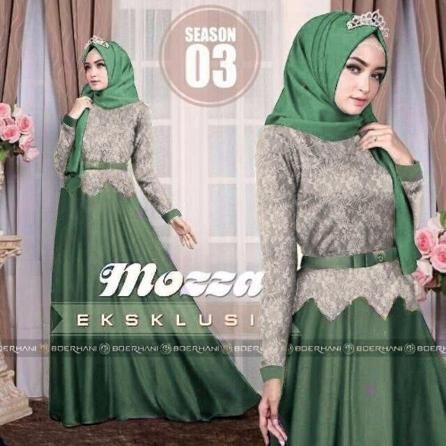 MJ Gamis Mozza Syari - green