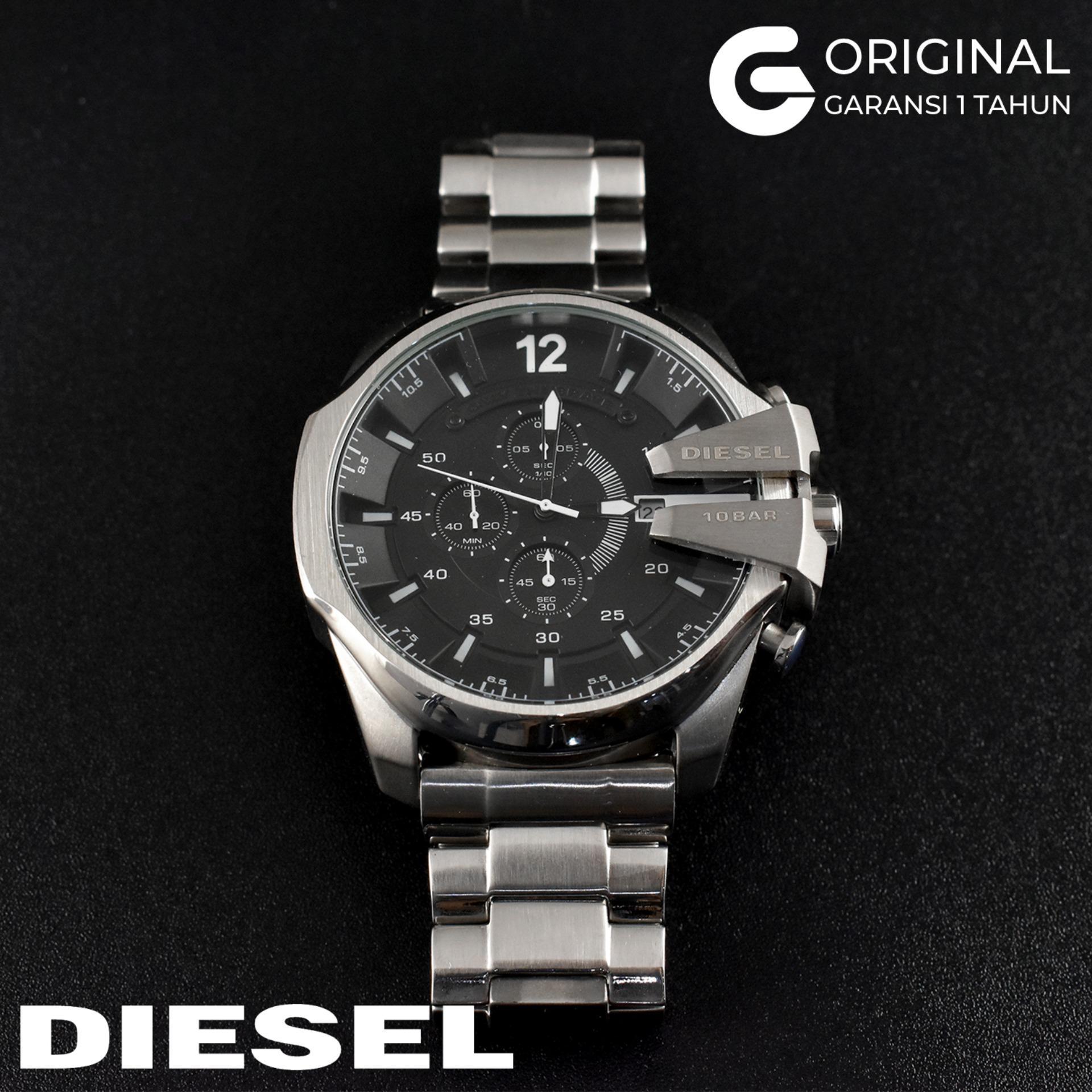 Diesel Jam Tangan Pria Diesel Kronograf Tali Rantai Logam Stainless Steel  DZ4338 DZ4309 DZ4283 Black Gold c10f2d6257