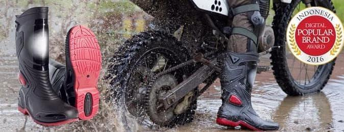 Paling Laris Sepatu Touring Cross Trail Balap Drag Anti Air Ap Boots