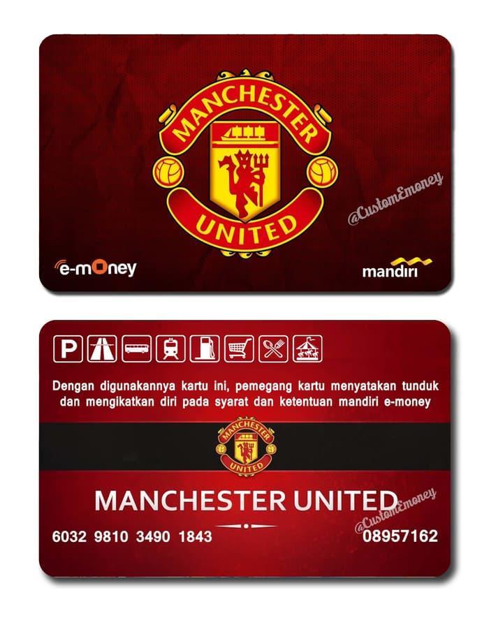 PROMO - kartu mandiri etoll e-money e-toll 50rb manchester united mu card Import