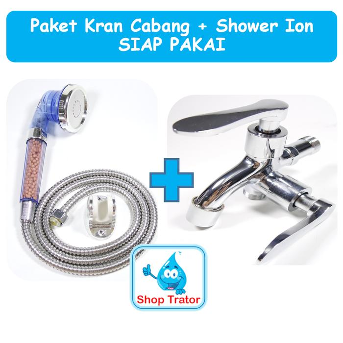 PAKET KOMPLIT super shower ion dan kran cabang SIAP PAKAI murah 1248ab0f69