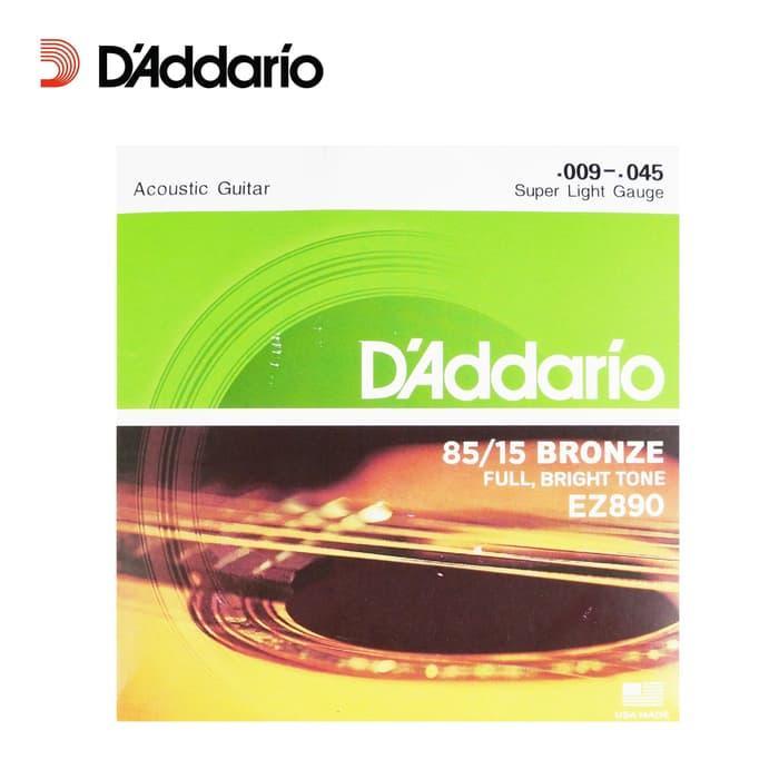 Senar Gitar Akustik Daddario (09) Ez890 Super Light Gauge Daddario By Dahlia Store.