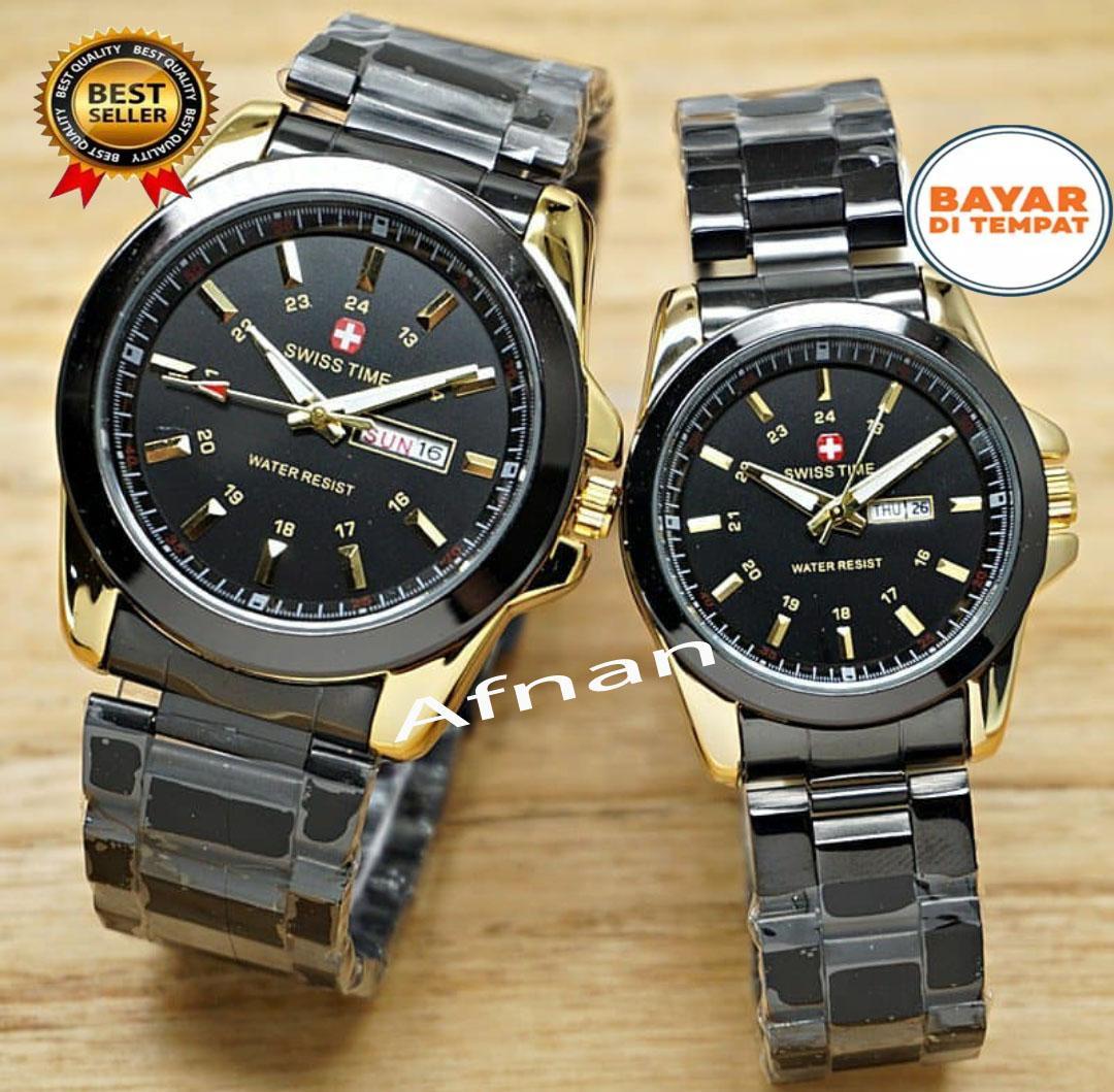 Swiss Army Swiss Time Couple Pasangan - Jam Tangan Fashion Pria Wanita - d975470618