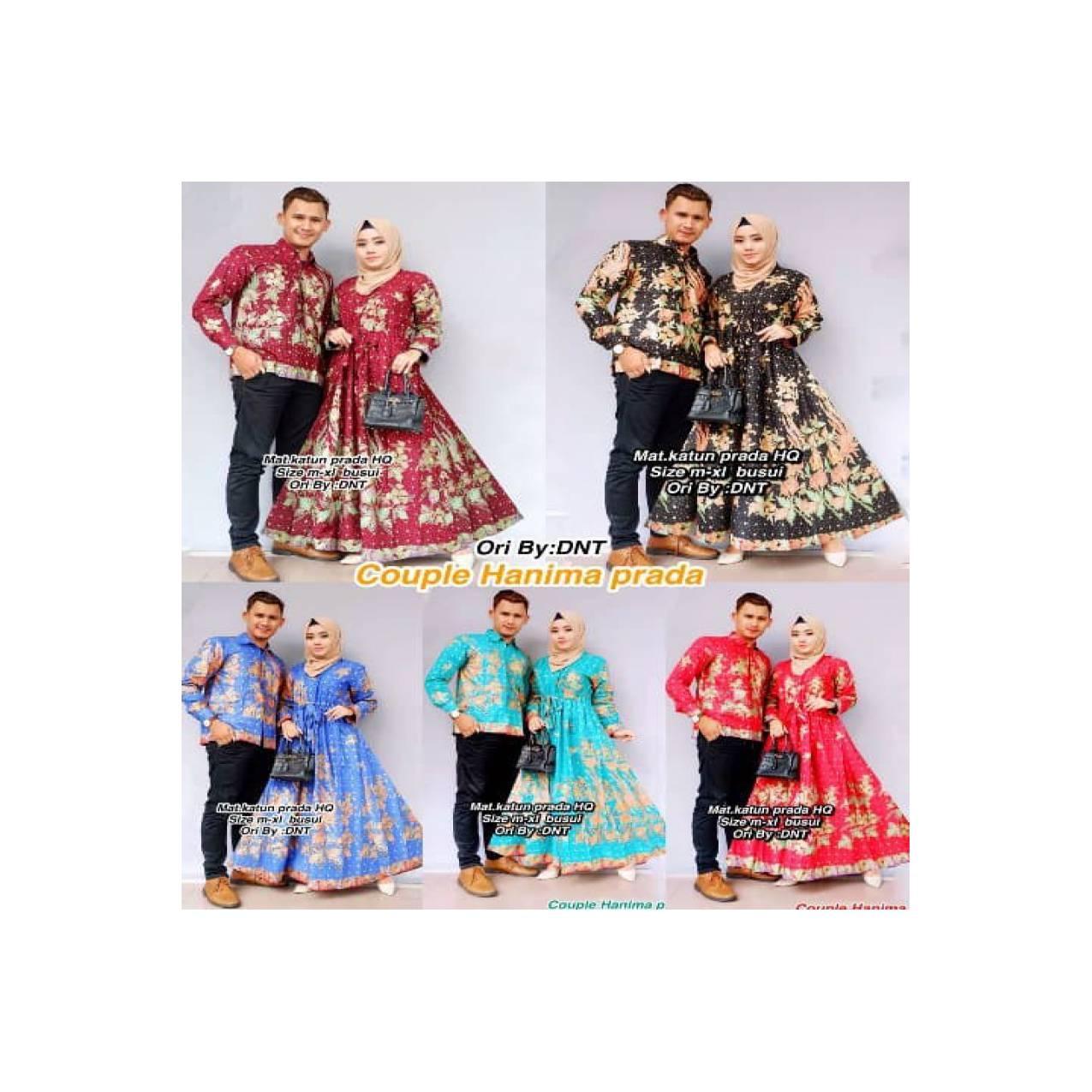 NEW ARRIVAL Couple Batik Sarimbit Gamis Lengan Panjang