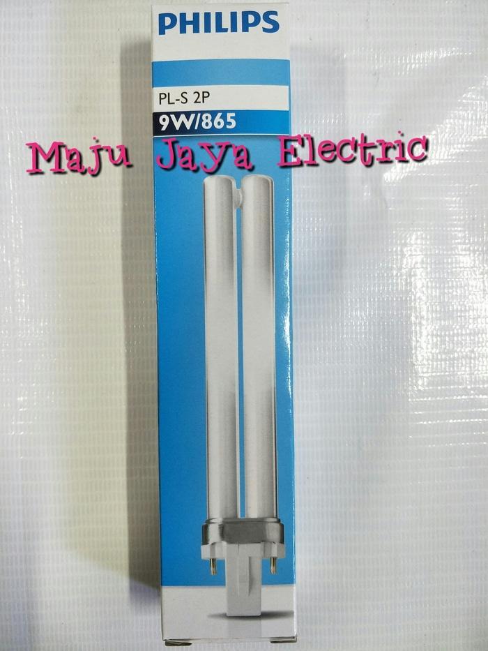Lampu Tusuk 2 Pin Philips PLS PL-S 2P 9 watt 9 w Putih Fitting G23 Terlaris