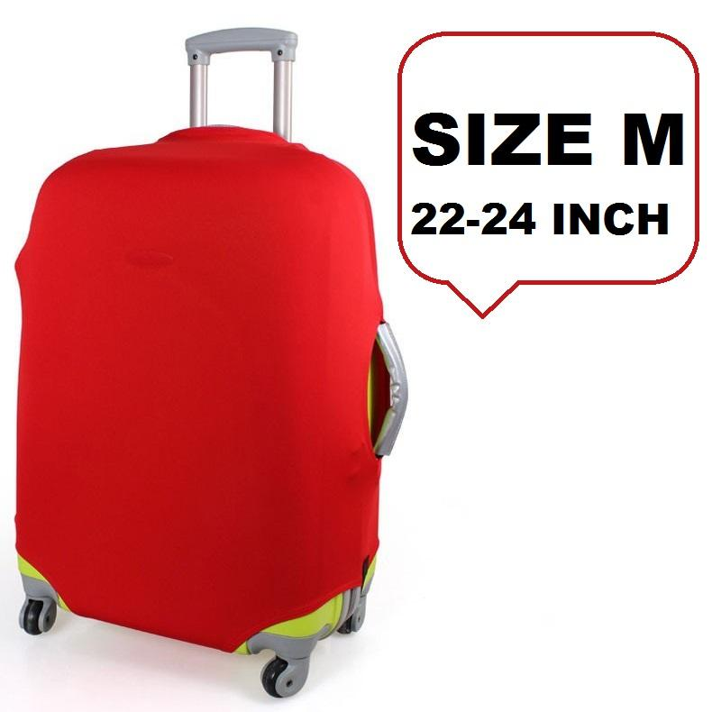 FIRST PROJECT - Sarung Pelindung Koper Elastis Polos Luggage Cover Protector Elastic Suitcase M for 22