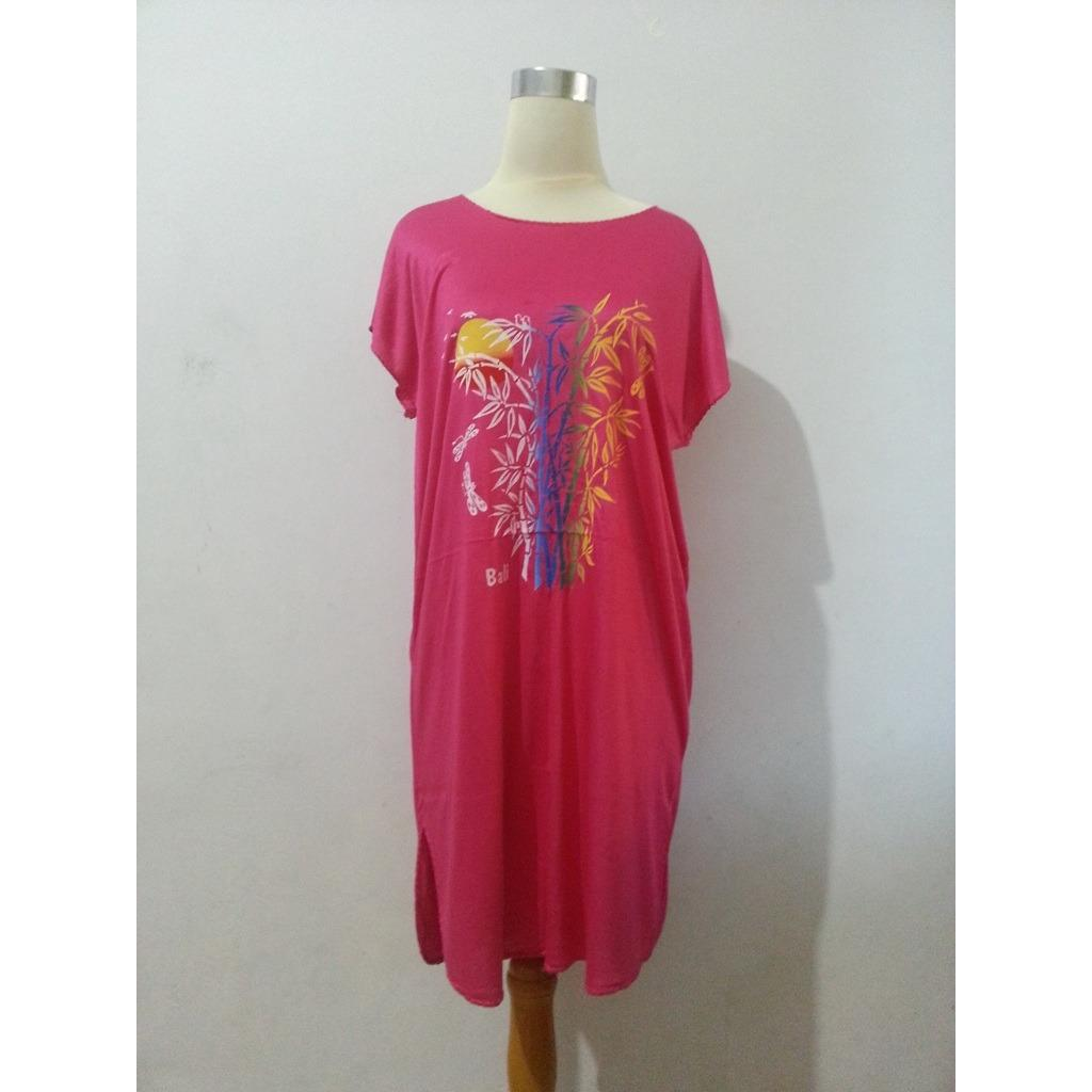 Baju Daster Bambu Bali Pjg Pink 1