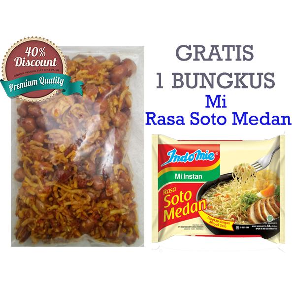 Sumut Shop - Sambel Teri Kacang Tanah (Khas Medan) + Free Indomie Rasa Soto Medan