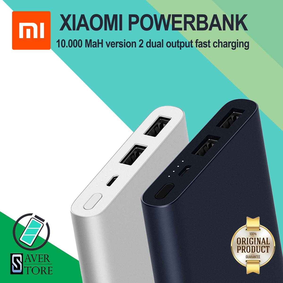 ORIGINAL Xiaomi power bank 10000 mah MI powerbank 2s dual usb output