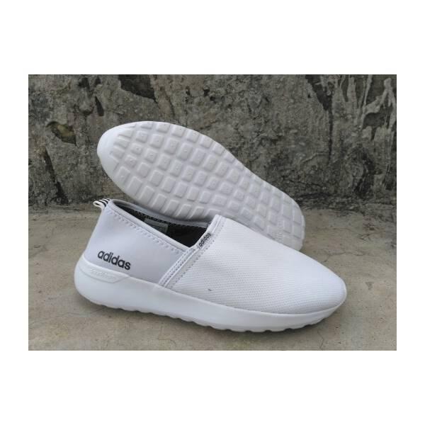 Sepatu Slip On Sneaker Adidas Neo Cloudfoam Lite Racer Putih  ORI