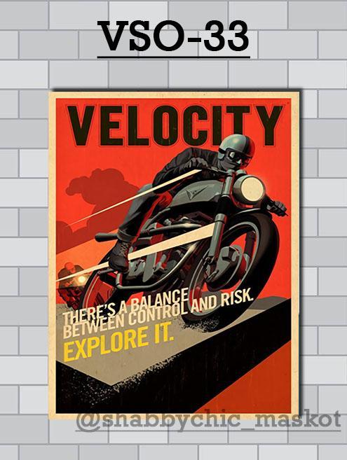 Vasty Hiasan Dinding Kayu Wall Decor Poster Otomotif VSO-33