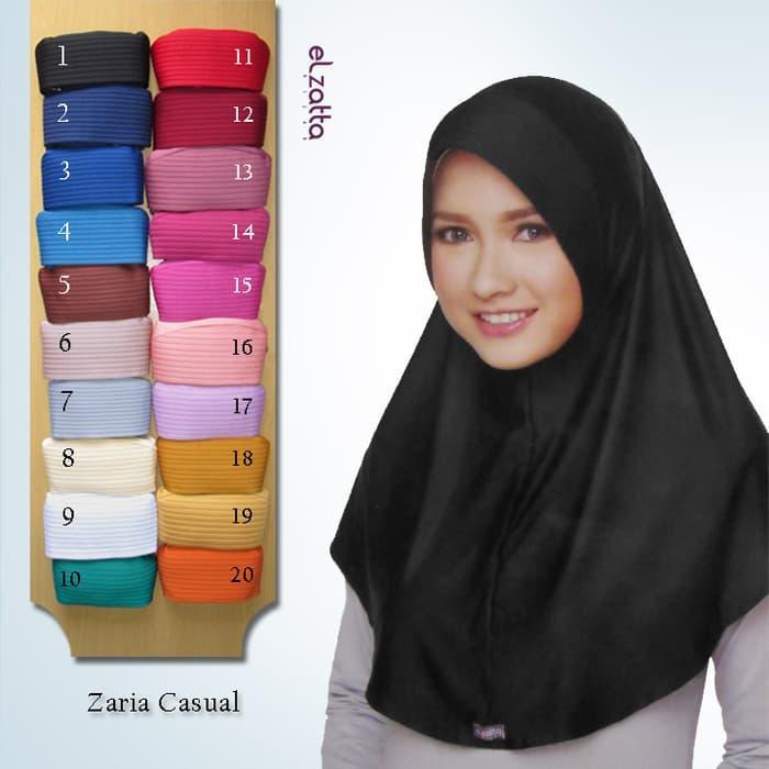 Jual  ELZATTA Hijab Kerudung Jilbab Instan Bergo Zaria Casual Asli Terbaru