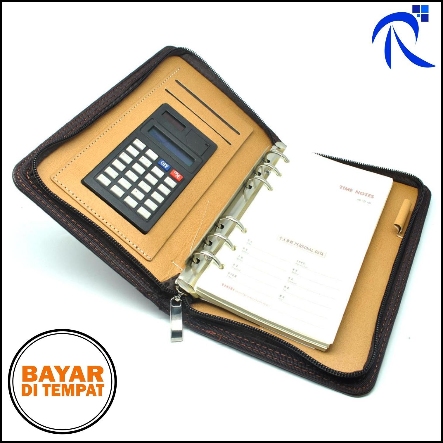 Binder Aksesoris Lainnya Sampul Buku Coklat Gambar Rimas Catatan Note Cover Kulit With Kalkulator Brown Hitam
