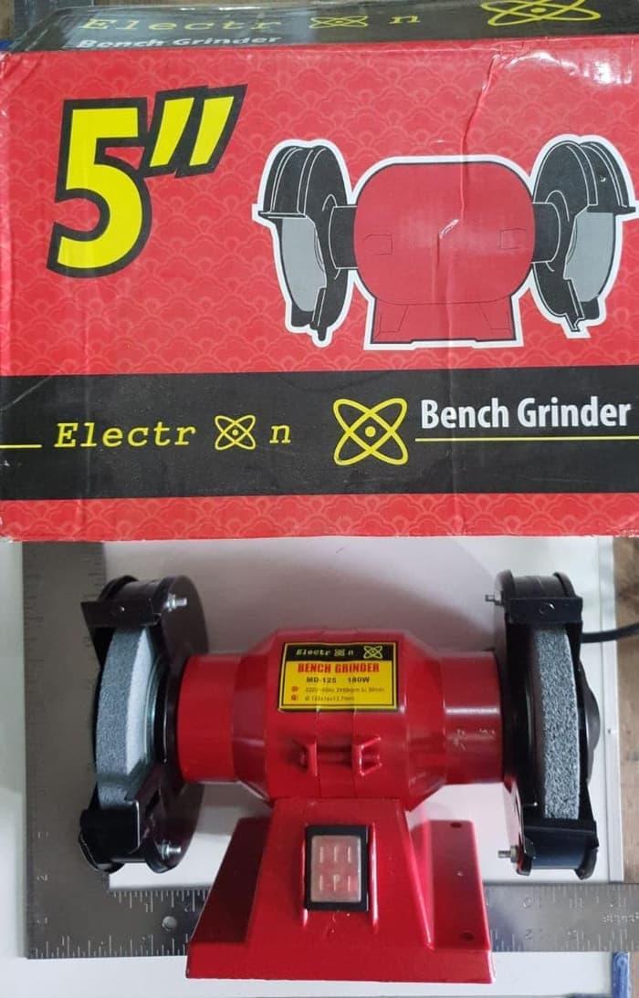 PROMO ELECTRON Mesin Gerinda Duduk 5 inch Bench Grinder dbwh nankai ryu