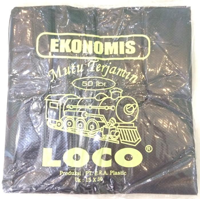 Kantong Plastik Loco Ekonomis Hitam Uk 15 - ready stock
