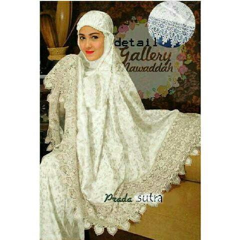 Mukena Prada Warna Putih Polos Busana Muslim Wanita Syari Jepang Jumbo Model Terbaru Harga Promo ()
