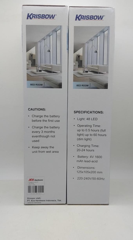 Buy Sell Cheapest Terlaris Krisbow Emergency Best Quality Product Lamp Kuat 15 Jam Teknologi Dimmer Lampu Darurat Led Rechargeable 48 Lantern Diskon