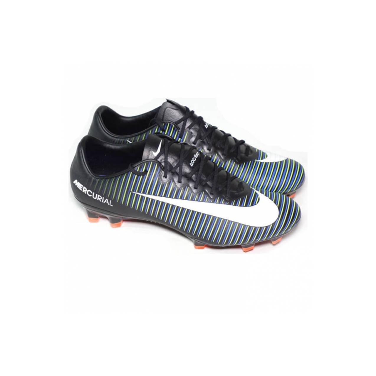 Sepatu Bola Nike Mercurial Vapor Xi Fg - Black White Electric Green