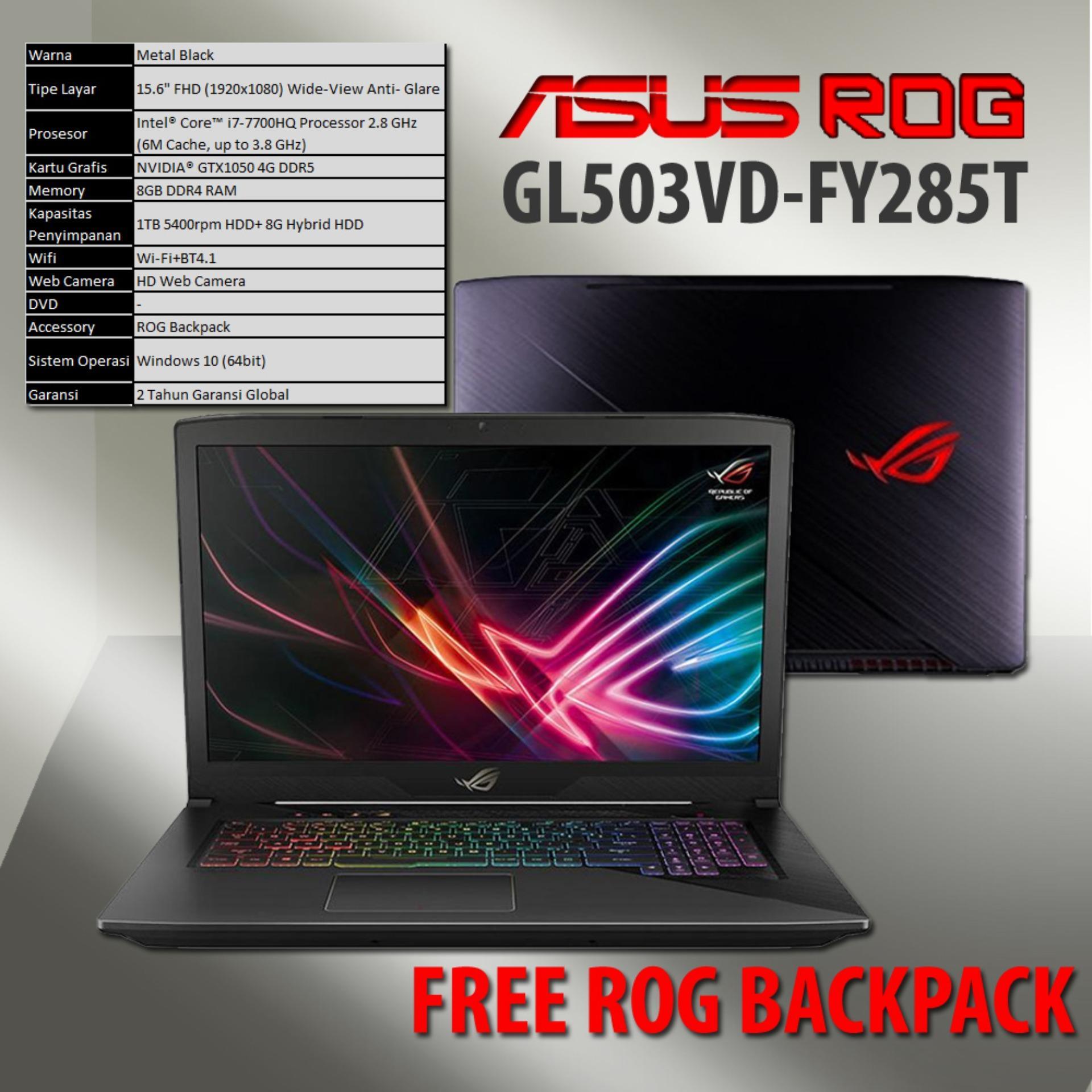 Laptop Gaming Asus Terbaru Termurah Tuf Fx504gd E4310t Rog Gl503vd Fy285t I7 7700hq 1tb Hdd 8g Hybrid 8gb Ddr4 Ram Gtx1050 4gb
