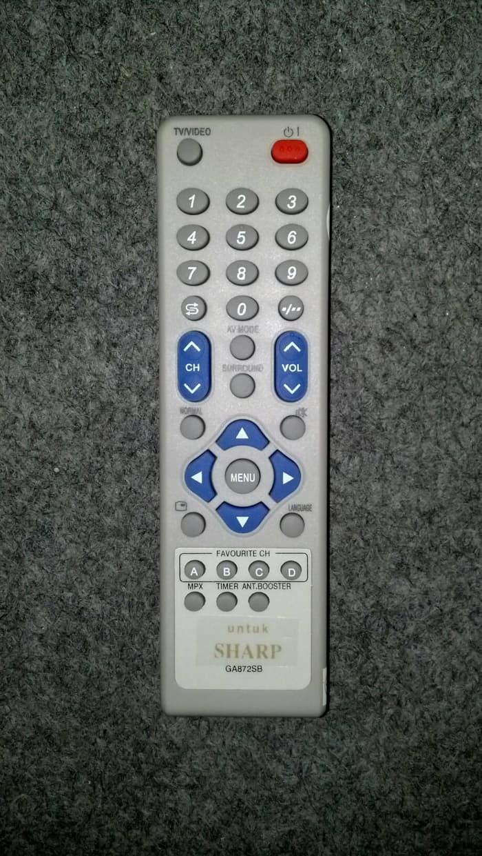 Jual Sharp Remote Tv Tabung Flat Putih Harga Rp 38800 Remot G Tronik Ga872sb Kw Mp Spcremote 071
