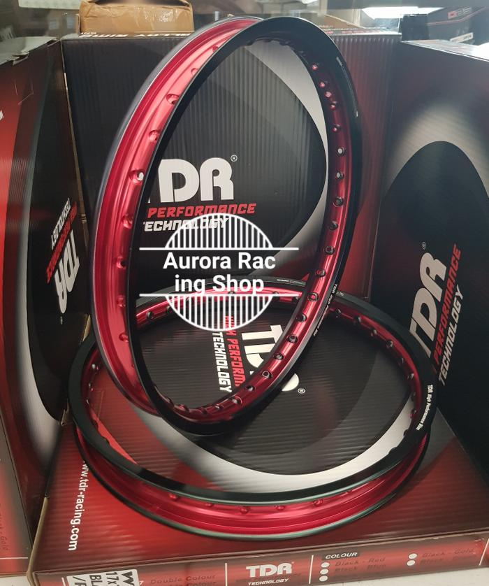 Velg Tdr Wx Shape Set Ring 17 X 140 / 160 Warna Black Red