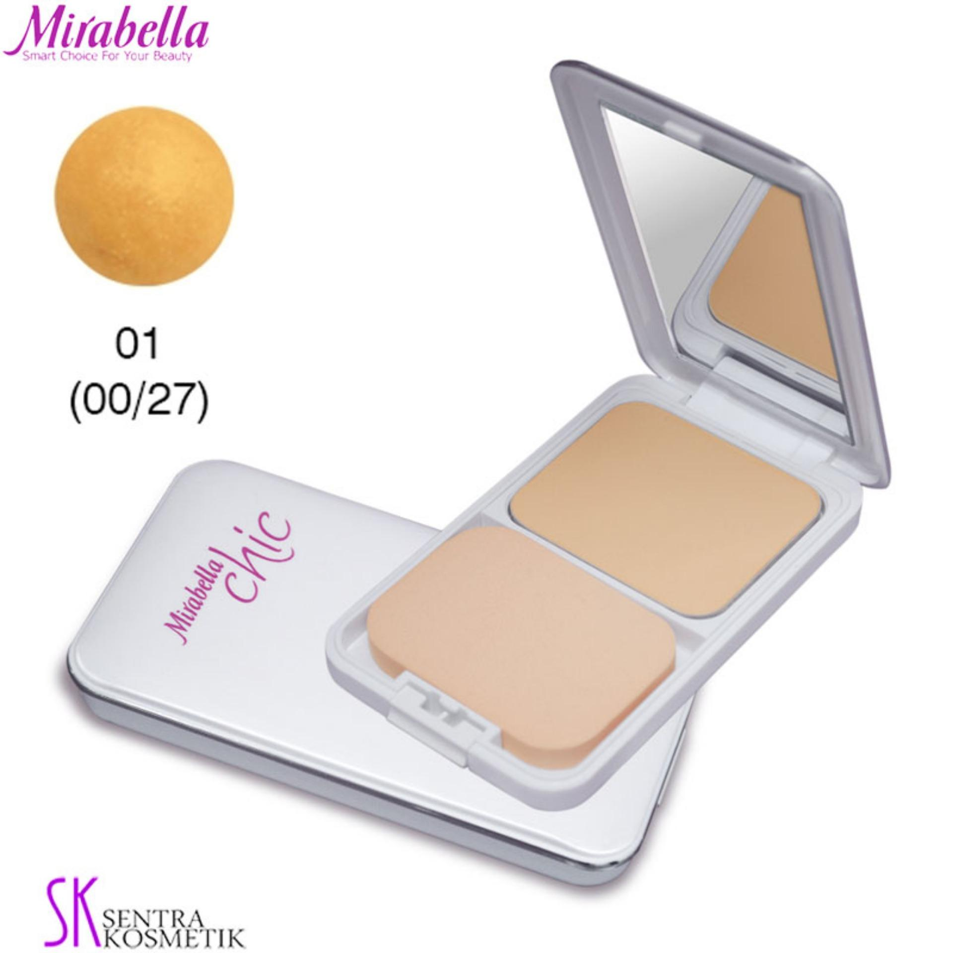 Buy Sell Cheapest 01 Pesona Powder Best Quality Product Deals Bioaqua Chic Trendy Soft Rose Blush On Mirabella Two Way Cake Uv White