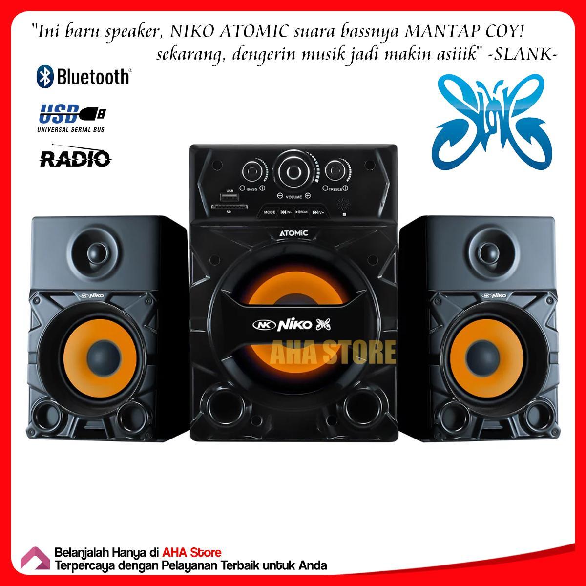 Niko Atomic Speaker Aktif 2.1 Bluetooth Radio