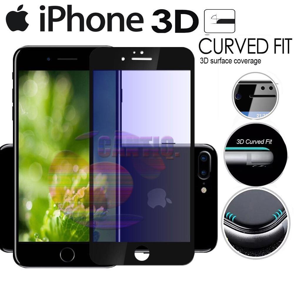 Tempered Glass Full Screen Black iPhone 7 Plus 9H Screen Anti Gores Kaca / Screen Guard / Screen Protection / Temper Glass iphone 7G Plus / Pelindung Layar Kaca Full iphone7+ / Depan Only / Temper Full Melengkung - Black / Hitam