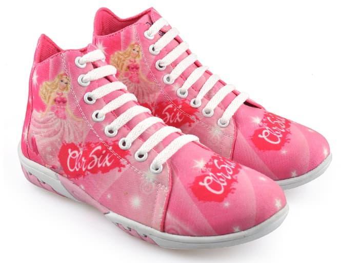 sepatu anak perempuan, sepatu sekolah anak cewek,motif barbie, RNC 007 /  Fashion Wanita / Sepatu Sneakers / Sepatu Wanita / Sepatu Murah / Sepatu Bagus / Sepatu Kren Wanita / Sepatu Kekinian / Sepatu Modern / Sepatu trendy / Sepatu Berkualitas