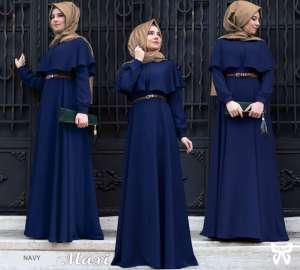 Flavia Store Maxi Dress Lengan Panjang Set 3 in 1 FS0622 - NAVY BIRU DONGKER / Gamis Syari / Gaun Pesta Muslimah / Baju Muslim Wanita Syar'i / Hijab Jilbab ...