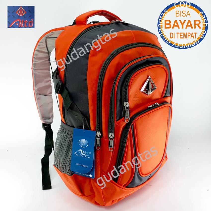 Alto Super Tas Sekolah Tas Kuliah Tas Travelling 76781 Ransel Laptop  ORANGE  + Raincover