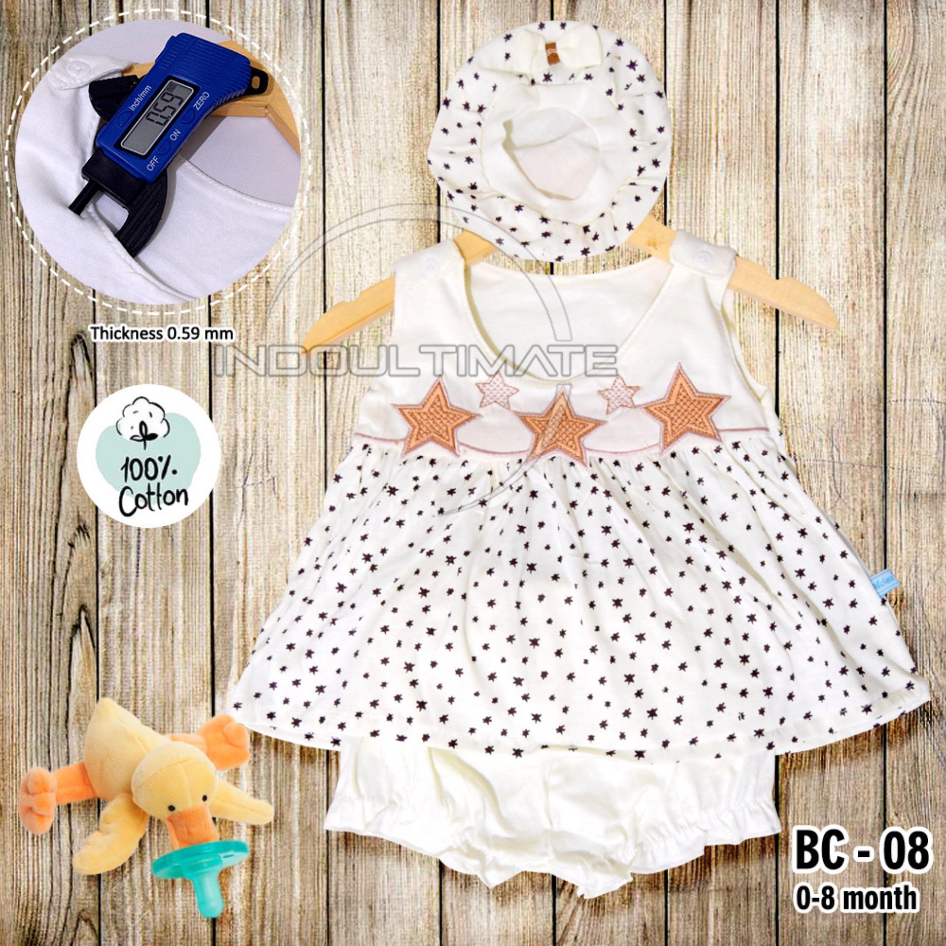 Setelan Baju Baby Cewek / Pakaian Baby Cewek / BY BC-08 BAJU BABY CEWEK SATU SET + TOPI (Random)