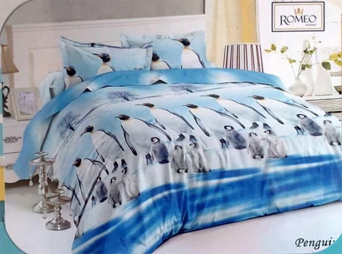 PALING DICARI Bedcover Romeo ukuran 180 x 200 / King / No.1 - Penguin TERLARIS