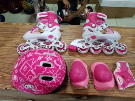 Jual sepatu roda anak fullset (body protecktor +helm)   inline skate 3598de1cb7
