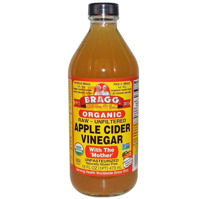 Bragg Apple Cider Vinegar (ACV) 473 ml ORIGINAL PURE Cuka Apel - BATAM (Max 1 botol per order)