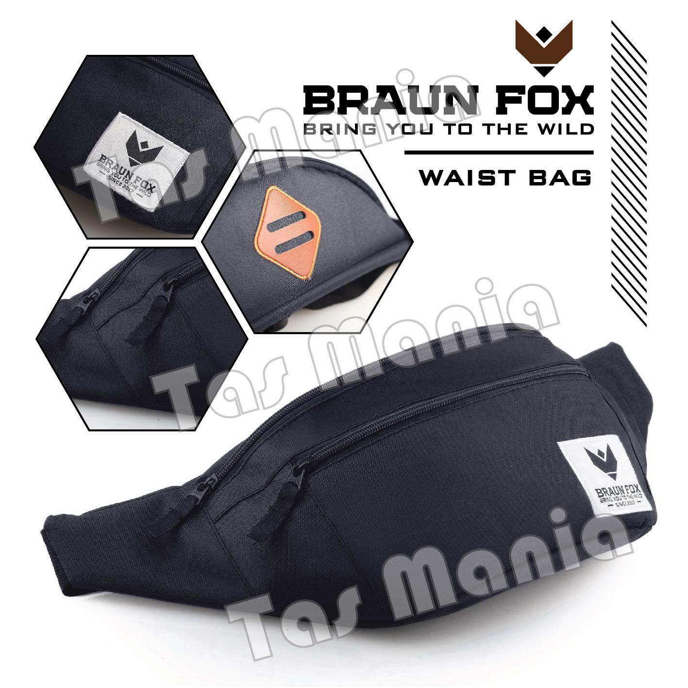 Buy Sell Cheapest Best Tas Pinggang Quality Product Deals Tactical A318 Braun Fox Seattle Waistbag Navy Selempang Pria Groovy Multifungsi Sandang Messenger Slempang Never Ink