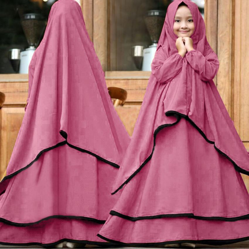 Grateful  Fashion Syari Ramadhani Kids - Lavender 1 Untuk Anak Umur 7-10 Tahun- Best Seller