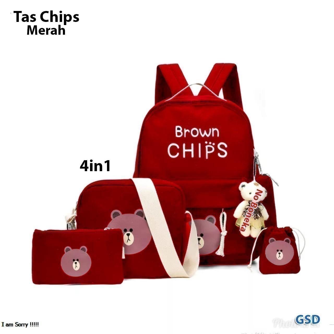NCR - Tas Anak Perempuan   Tas Sekolah   Tas Ransel Anak   Tas Chips 4in1 224519ef42