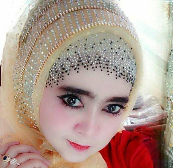 inner pesta jilbab luar organza polkadot Ori
