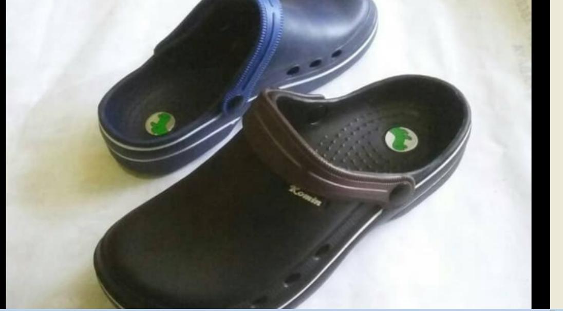 sepatu sandal model crocs KOMIN K-023 // sandal karet pylon pria