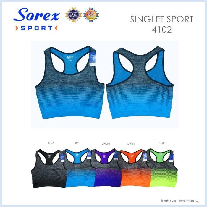 HARGA SPESIAL!!! Singlet Sport Motif Garis Sorex 4102 - D1gtas