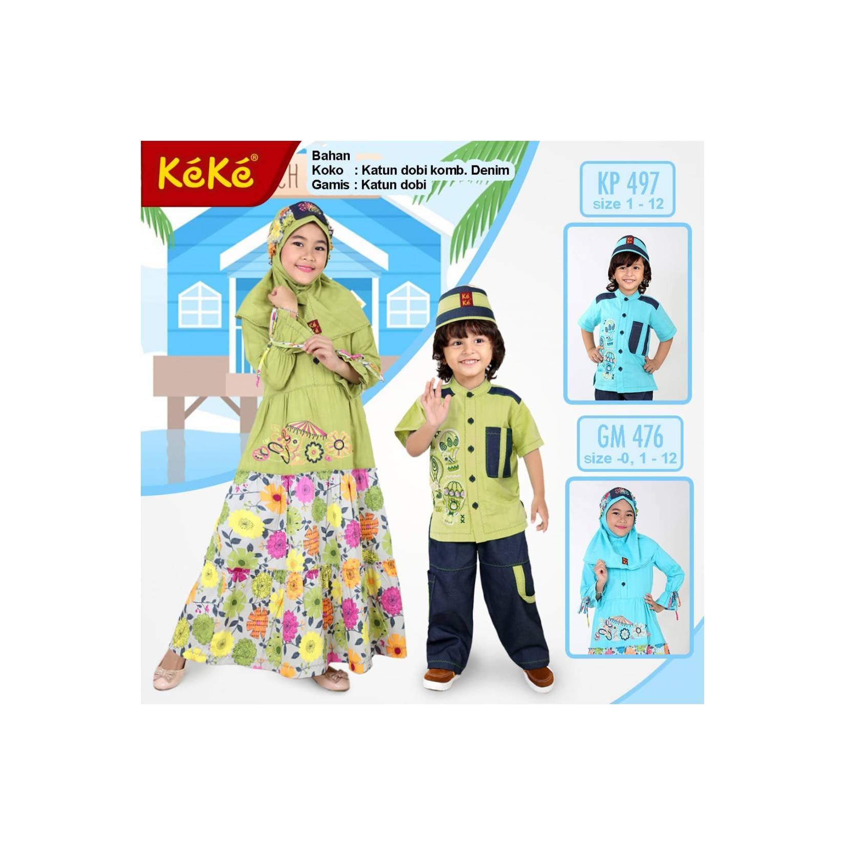 gamis anak/baju muslim anak keke size 10