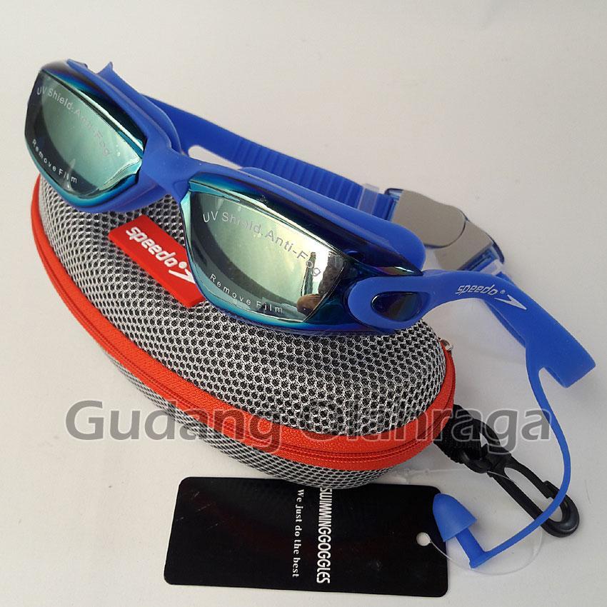 SPEEDO 866 Kacamata Renang Anti Fog & UV Protection - BLUE