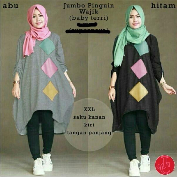 J&C Atasan Muslim Blouse Jumbo Pinguin Wajik / Atasan Muslim / Baju Big Size / Blouse