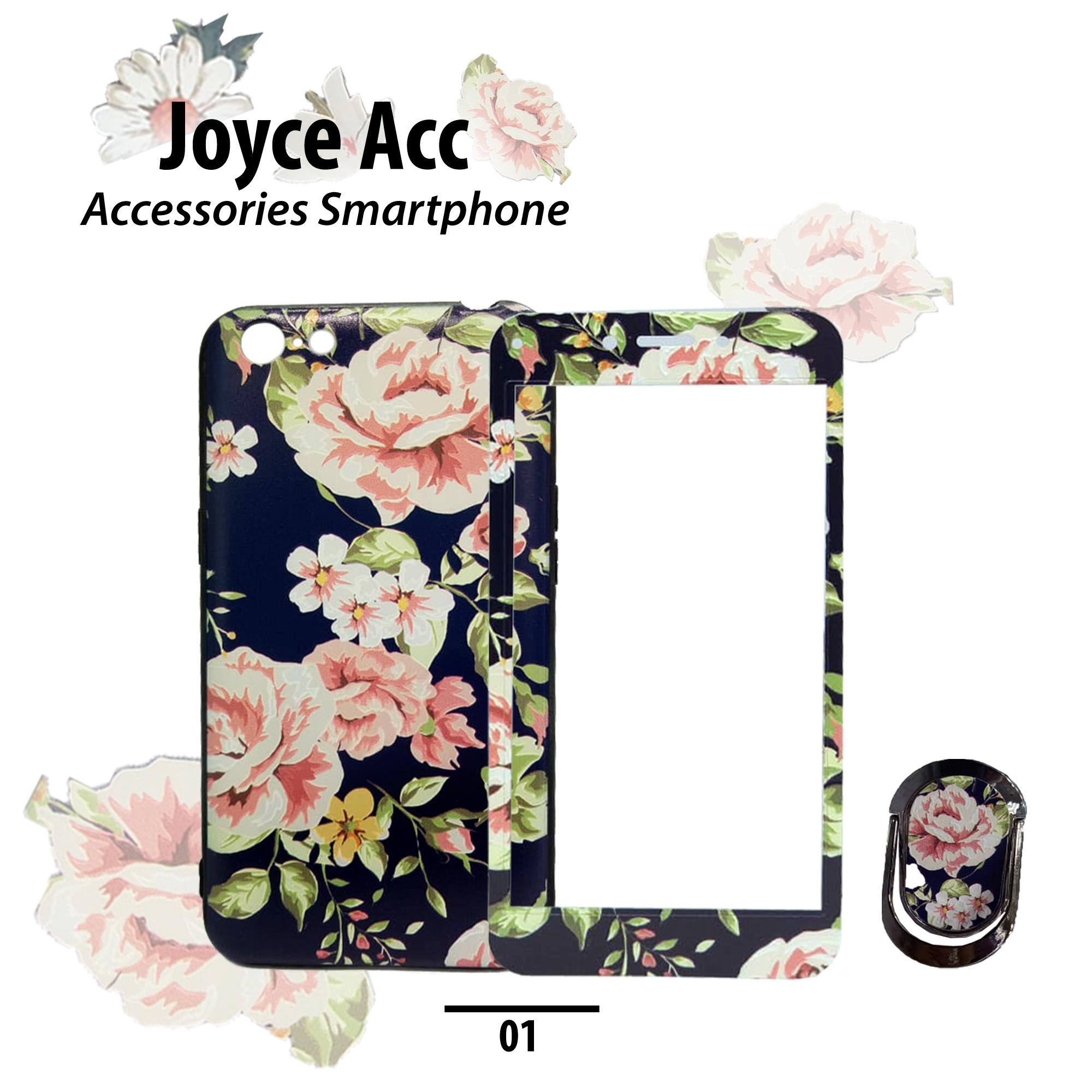 Softcase 360 for Oppo A37 Unique Relief Flower + Ring Stand (RANDOM) 76a2b11e2a